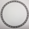 Torque-Converter Gasket, Cover, Paper, 34 Holes Bolted Aluminum, Industrial & Ford Passenger Applications